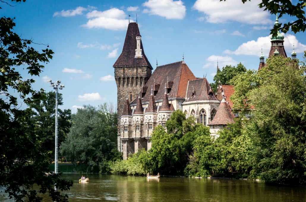 Vajdahunyad-Castle-with-Boat-Lake-Budapest-May-Ronald-Papp