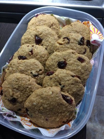 Cookies cu merișoare