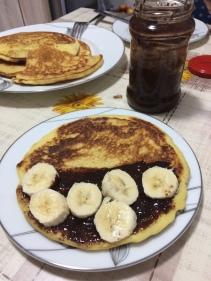 Pancakes cu nutella de casă