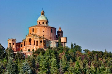 15255245 - sanctuary of the madonna di san luca, antique church on the hill of bologna, italy